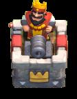 Torre do Rei em modo de defesa - Clash Royale