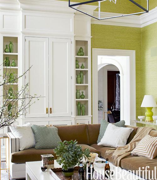 Green Living Room: Michaela Noelle Designs