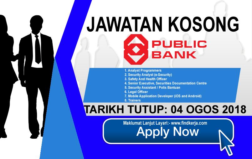 Jawatan Kerja Kosong Public Bank Berhad logo www.ohjob.info www.findkerja.com ogos 2018