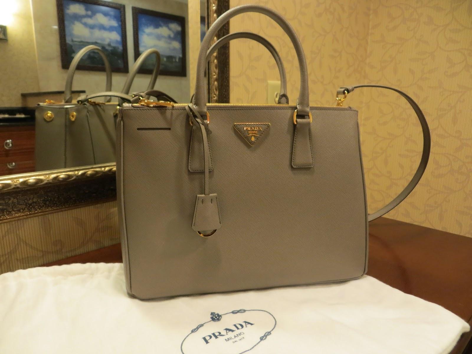 abf539416062 ... low price prada saffiano lux tote in argilla with beautiful gold  hardware 5cfe8 3f4d6