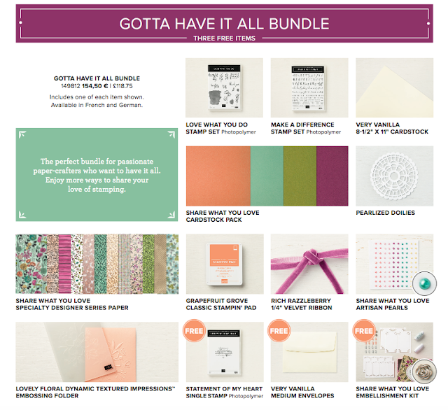 Gotta Have it all bundle from Share What You  Love Suite Stampin' Up!