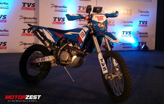 TVS Racing bike for Dakar Rally 2017