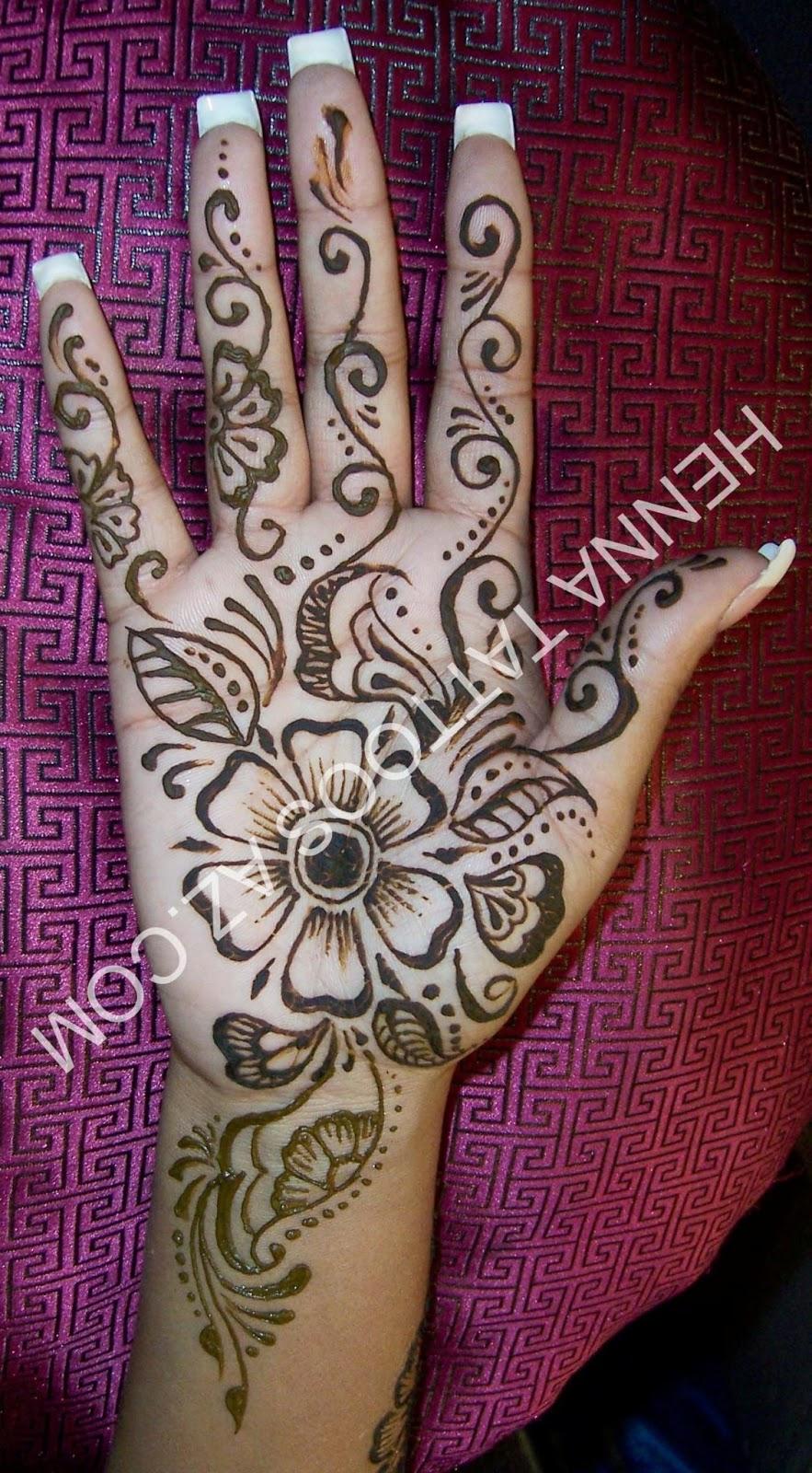 Gambar Henna Pengantin Yang Simple Balehenna