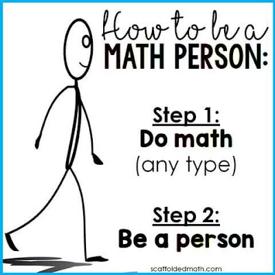 How to be a math person poster for classroom inspiration