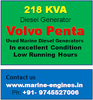 218 KVA diesel generators for sale, Volvo Penta TD100CRC marine diesel generators, used, reconditioned, second hand, Volvo penta engine spare parts