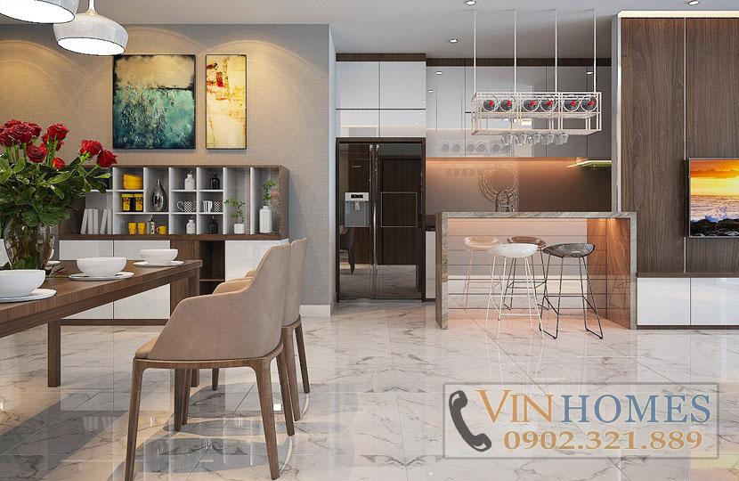 cho thuê căn hộ Vinhomes tòa Park 5 140m2 tầng trung nội thất mới - hinh 2