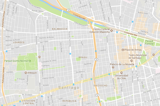 Centro histórico e turístico de Santiago
