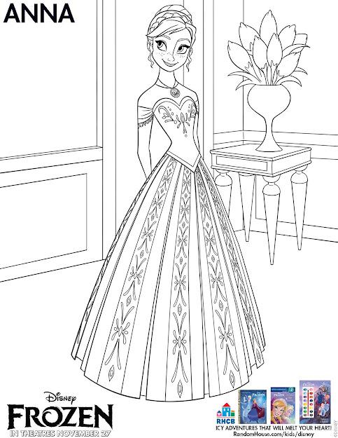 Disney Frozen Anna Coloring Sheet Printable