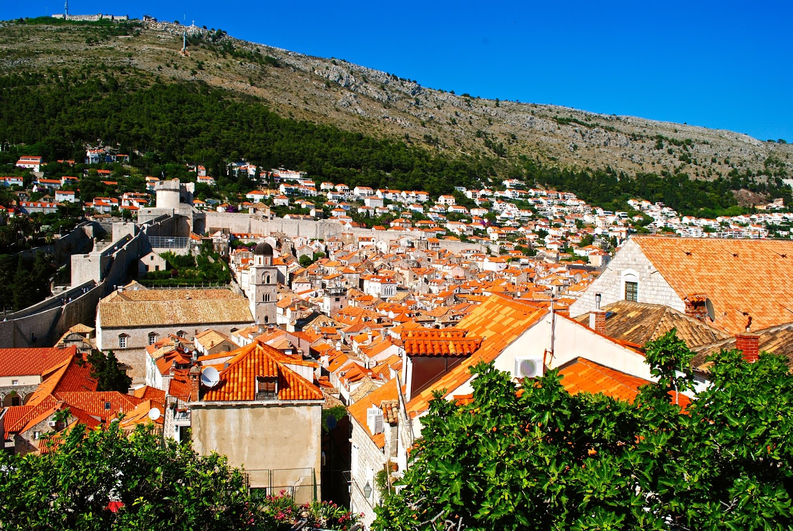 Walking the Old City Walls in Dubrovnik Croatia