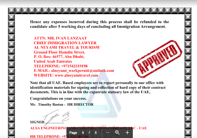 beware  is alsa engineering job offer in abu dhabi a scam