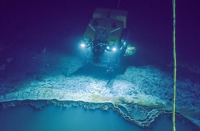 Encuentran un lago mortal bajo el Golfo de México