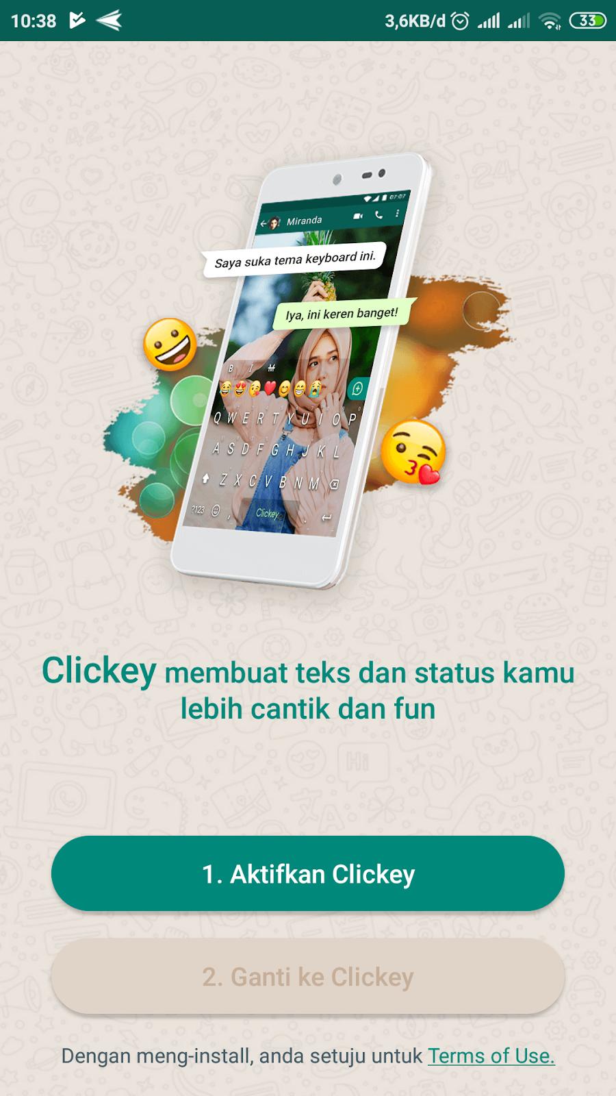 Cara Agar Keyboard Wallpaper Whatsapp Menjadi Transparan