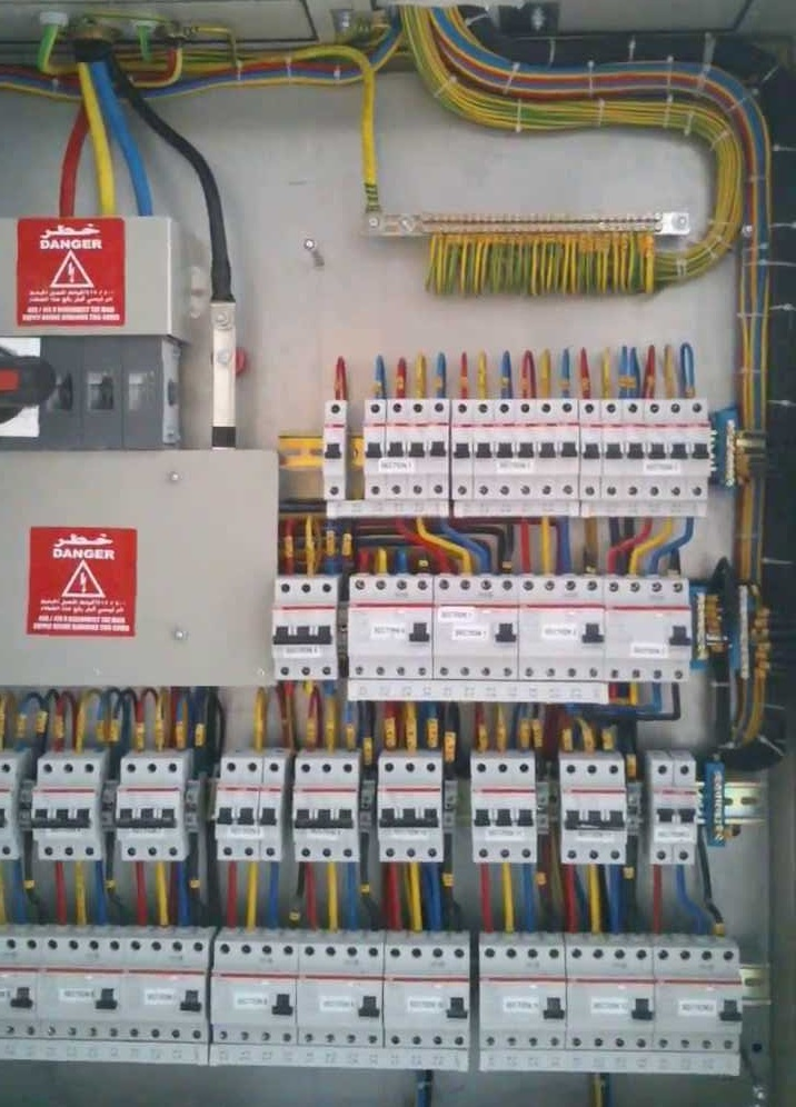 Phase Distribution Board Wiring Further Distribution Board Diagram