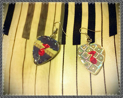 Elton John Guitar Pick Earrings