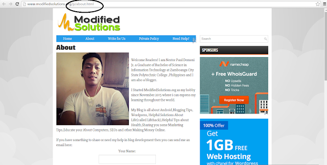 static front page blogger