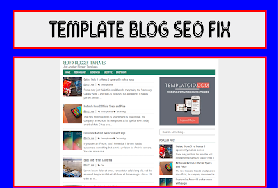 Seo Fix Blogger Templates Responsive Free Download