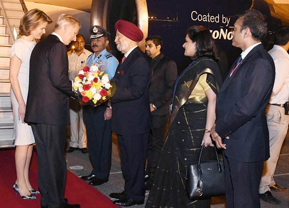 King Philippe and Queen Mathilde of Belgium arrived in New Delhi wore Armani shoes