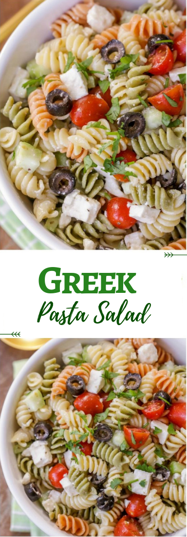 Greek Pasta Salad #vegetarian #salad