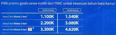 promo akhir tahun dari TRAC Astra Rent a Car