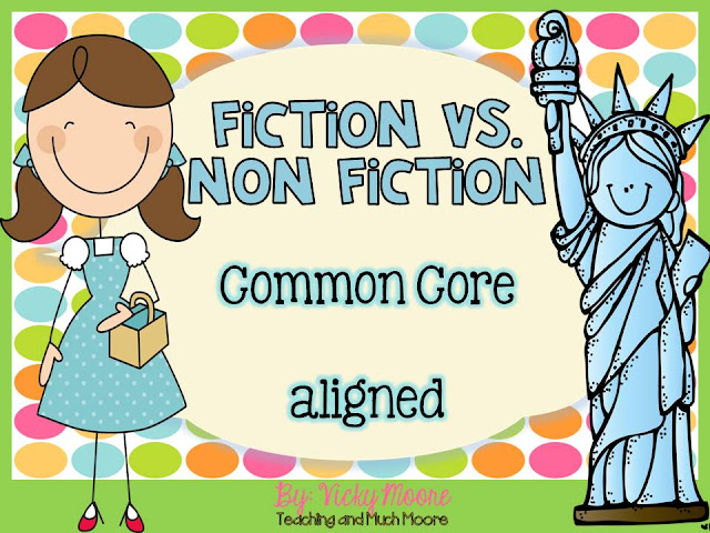 fiction and non fiction text and response pages