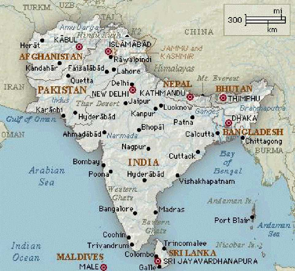 ... South Asia Map Political ...