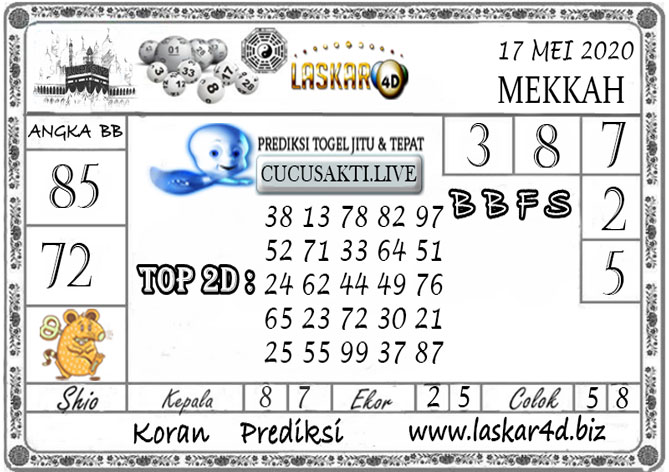 Prediksi Togel MEKKAH LASKAR4D 17 MEI 2020