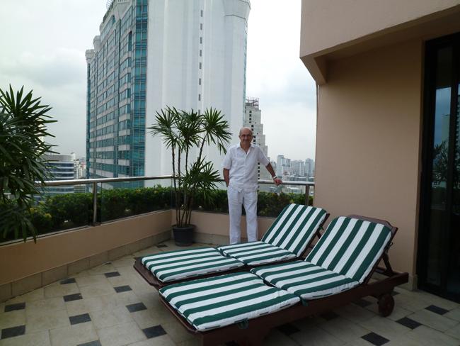 La tremenda terraza de día