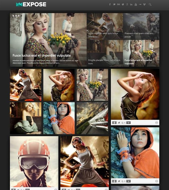 Expose Gallery Grid Blogger Template