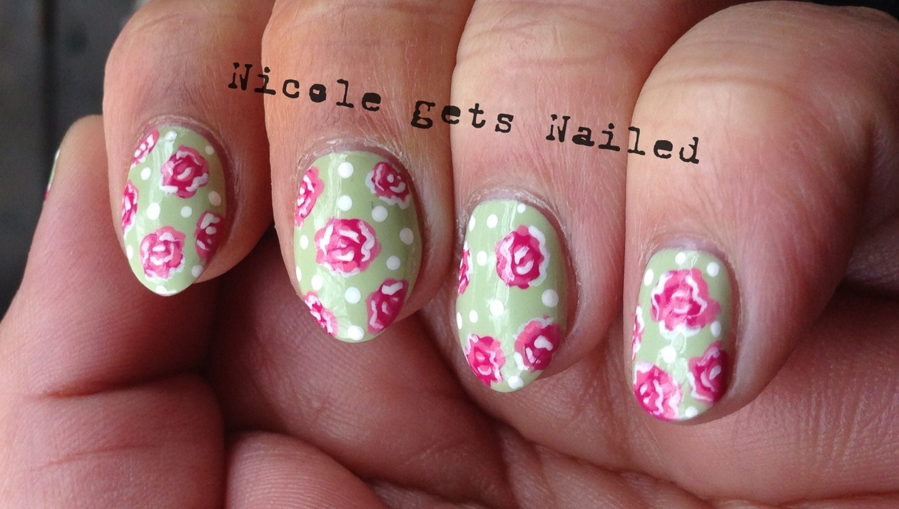 Nicole gets Nailed: Polish Days - Vintage Roses