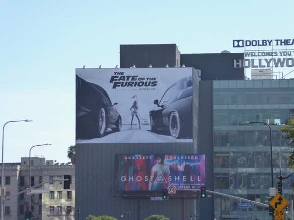 Fate of the Furious movie billboard