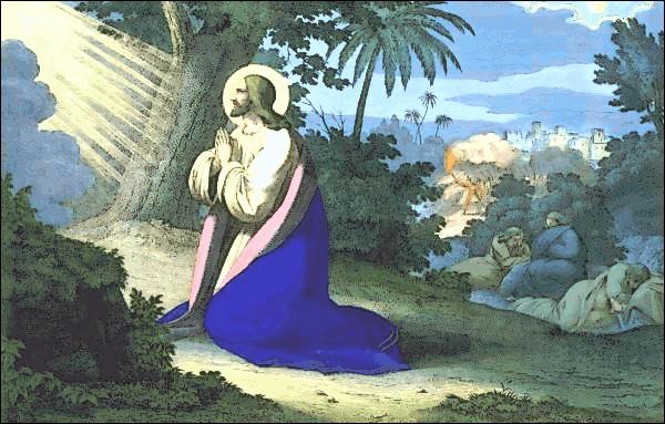 Jesús en el jardin Getsemaní