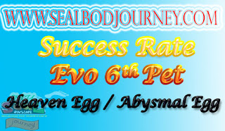 Tingkat Kesuksesan Evolusi Pet Baru Seal Online BoD