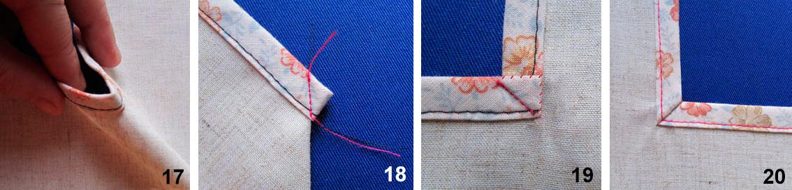Обработка срезов косой бейкой