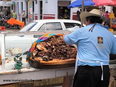 Carnitas, delicious pork, enjoy Mexican Food in Quiroga, Michoacan