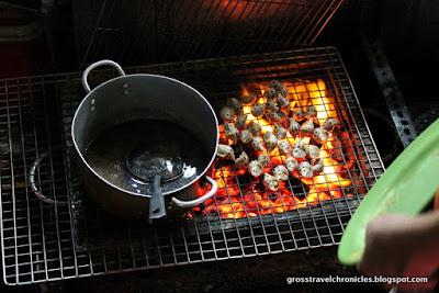 grilling snails