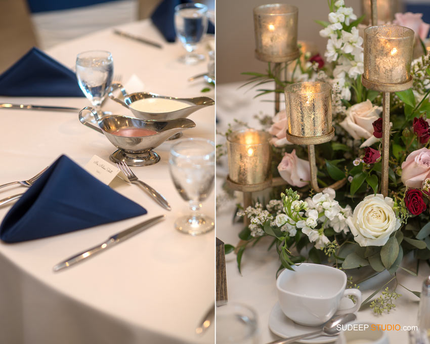 Wedding Table Flower settings Solitude Links Port Huron Wedding SudeepStudio.com Ann Arbor Wedding Photographer