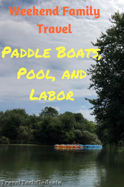 Weekend Family Travel & Ideas: Pedal Boats on Lake, Pool Time, and Labor Day Labor