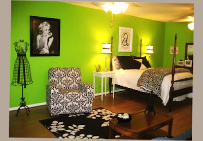 Photo of Cool Teenage Bedroom Ideas Green Color Wall and Good Painting With 2 Lamp