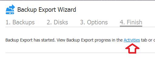 Nakivo: Exportar backups