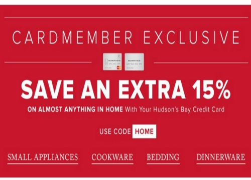 Hudson's Bay Extra 15% Off Home Items Promo Code