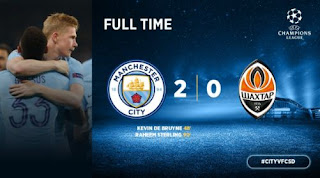 Manchester City vs Shakhtar Donetsk 2-0 Video Gol