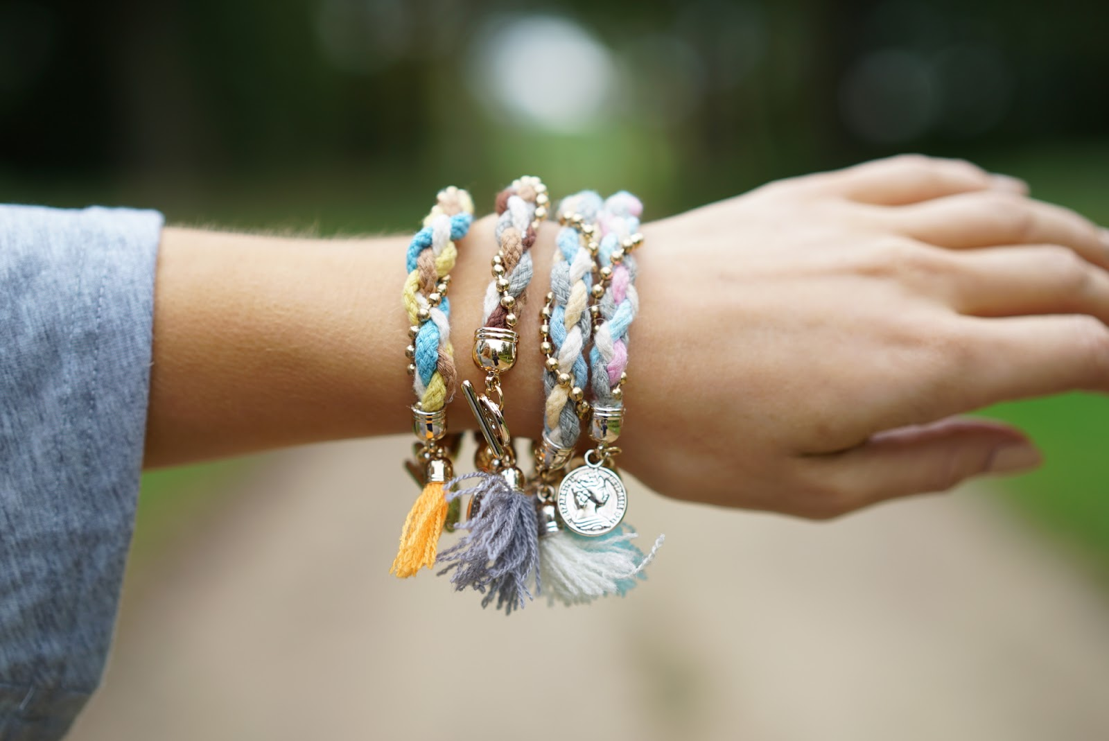 plaited tassel bracelets