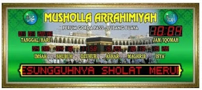 Alamat Dan Nomor Telepon Toko Jam Jadwal Digital Masjid