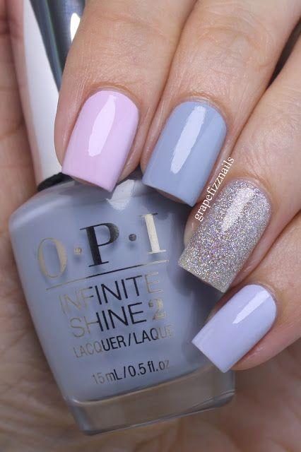 miles de diseños de uñas: diseño de uñas colores pasteles!