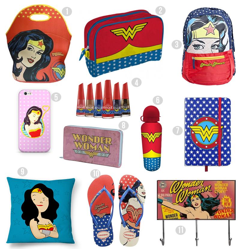 Compras: Itens inspirados na Mulher-Maravilha
