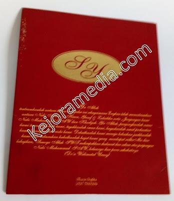 model undangan pernikahan warna merah