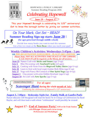 HPL 2016                 Summer Reading Program