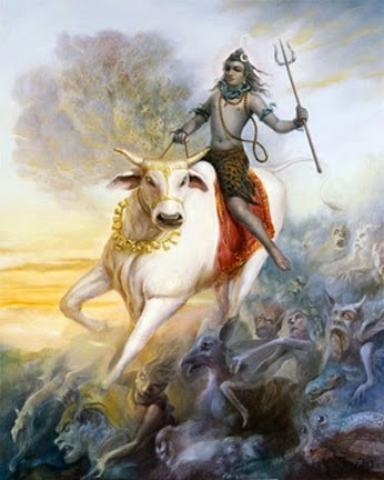 Why Nandi statue in front of Shiva ?