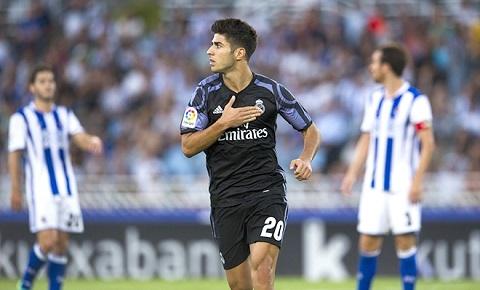 Marco Asensio thi đấu thành công cho Real