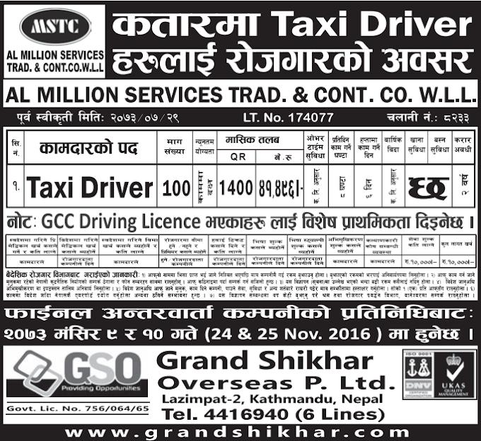 Free Visa, Free Ticket Jobs For Nepali In Qatar Salary- 41,496/
